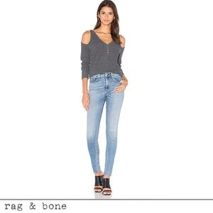 rag & bone High Rise Dive Jean in Freemont